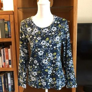 Time and Tru floral long sleeved top